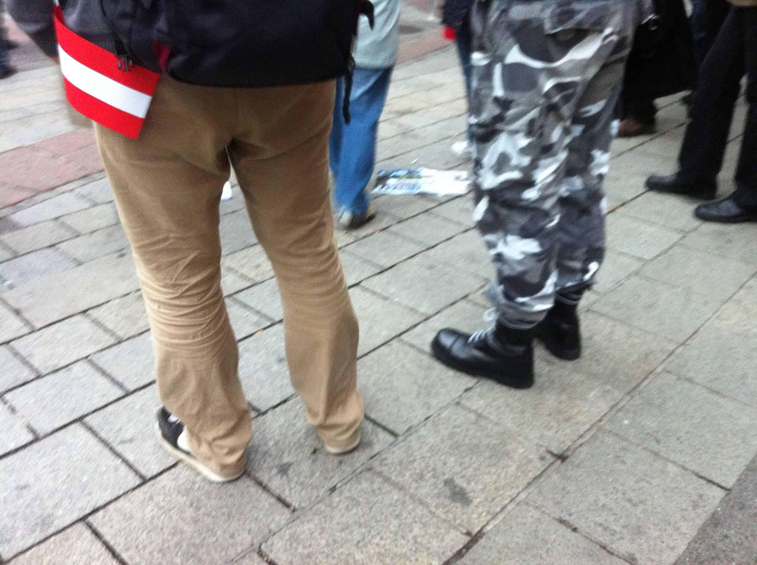 Strache-Demo: Skinhead festgenommen
