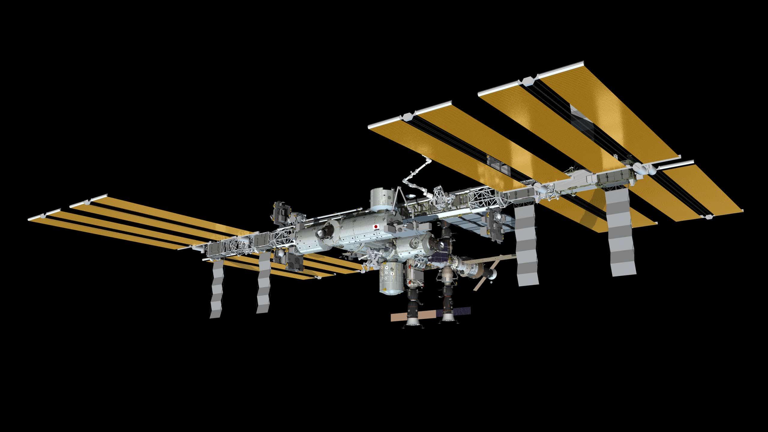 Die internationale Raumstation ISS. Johannes Kopf schlägt vor, die IS als paradoxe Intervention mit der Raumstation zu bebildern. (Bild NASA)